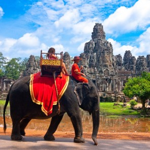 cambodia Asia Elephant Ride Exotic Banita Tour