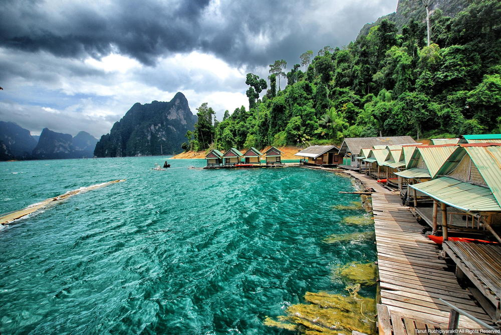 lake Cheo Lan Water Bungalow Thailand Kao Sok Asia Banita Tour
