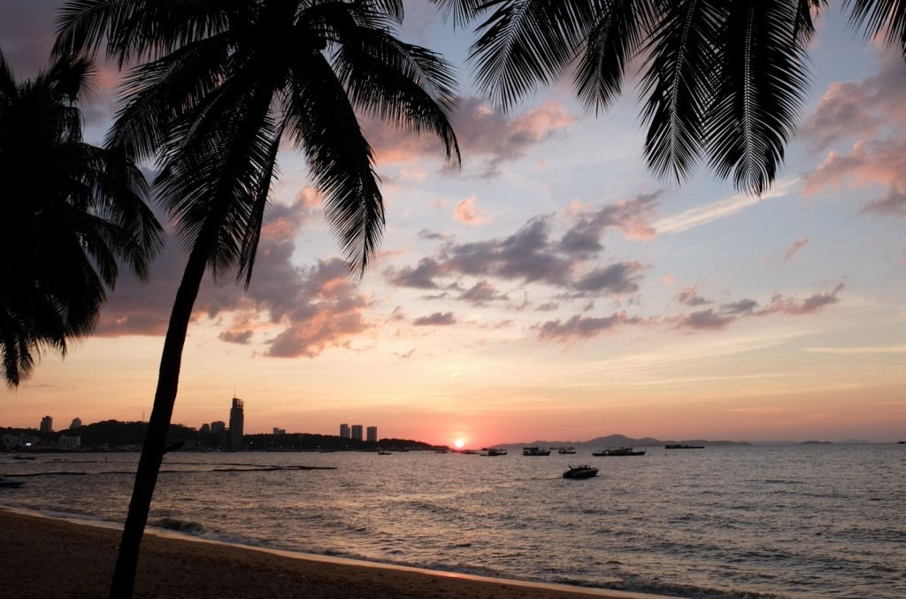 thailand, pattaya, asia, tourism, travel, sunset, beach, tourist, vacation , Banita Tour