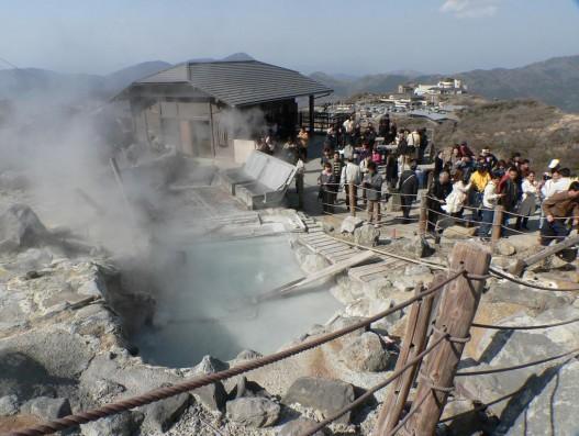 Owakudani, or the Valley of Hell Geyser Japan Banita Tour Operator