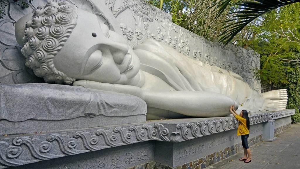 Buddha at the Long Son Pagoda in Nha Trang, Vietnam, Banita Tour