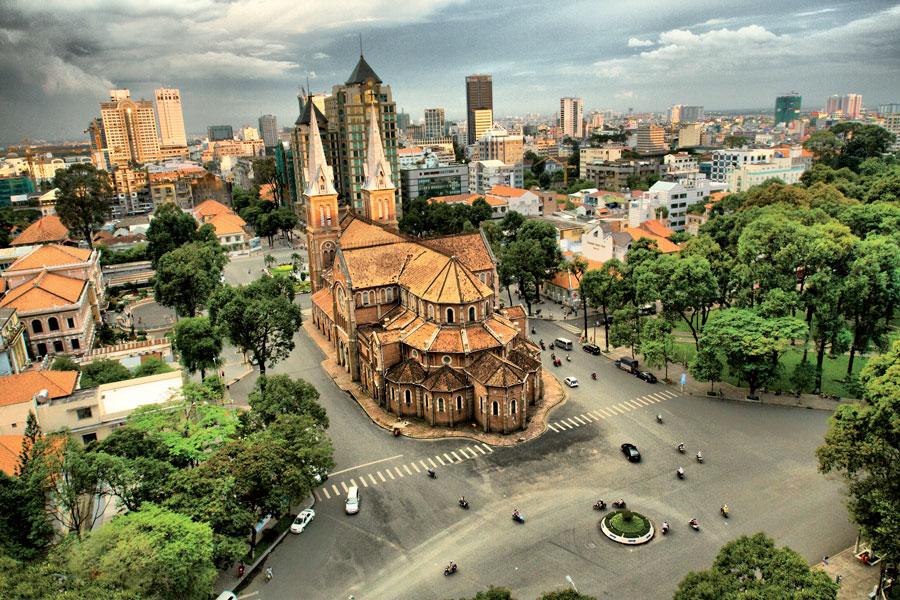 Kathedrale Notre Dame Saigon Vietnam Asia Banita Tour