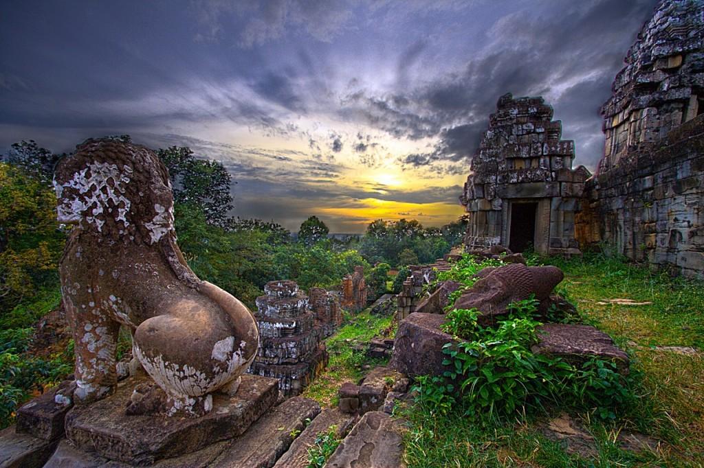 Phnom Bakheng Temple in Angkor Archaeological Park, Cambodia Asia Banita Tour