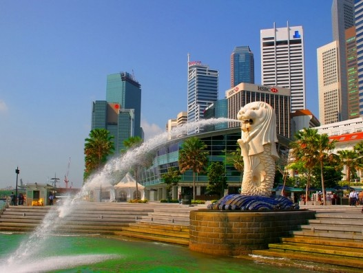 Merlion statue - Monument of Singapore Banita Tour Asia