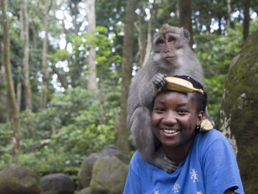 At the Sacred Monkey Forest in Ubd, Bali, Indonesia Banita Tour