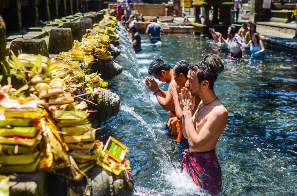 The Temple of holy water - Tirta Empul Bali Indonesia Banita Tour