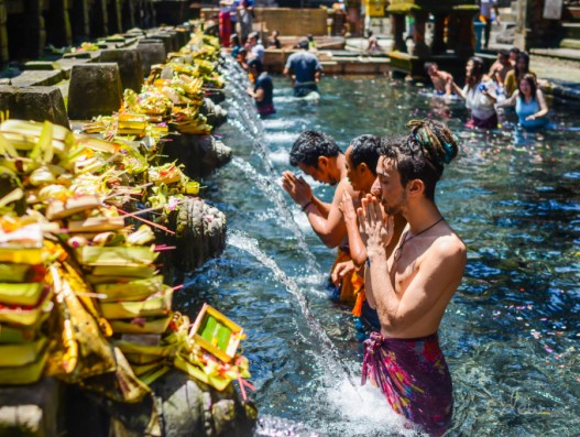 The Temple of holy water - Tirta Empul Bali Indonesia Banita Tour