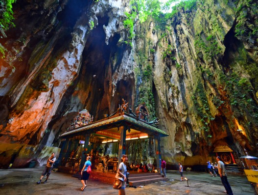 Lord Murugan's Temple Stalactite caves Malaysia Asia Banita Tour