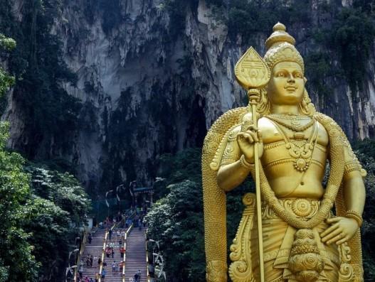 Malaysia Batu Caves Gombak Murugan Lord Murugan Statue Banita Tour