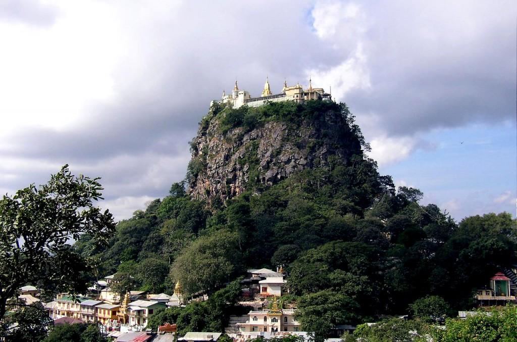 Mount Popa monastery, taung kalat, near bagan, monastery on hill, Myanmar Banita Tour