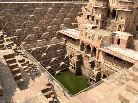 Chand Baori is a stepwell situated in the village of Abhaneri near Jaipur India Banita Tour
