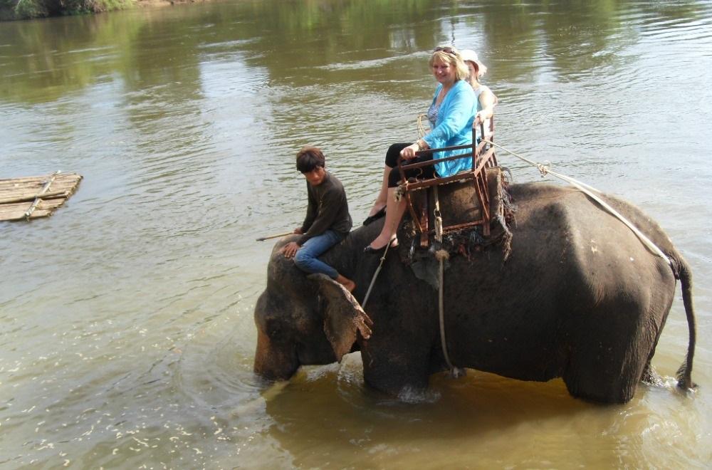 Natalia Elephant ride tourist Banita Tour Thailand Asia