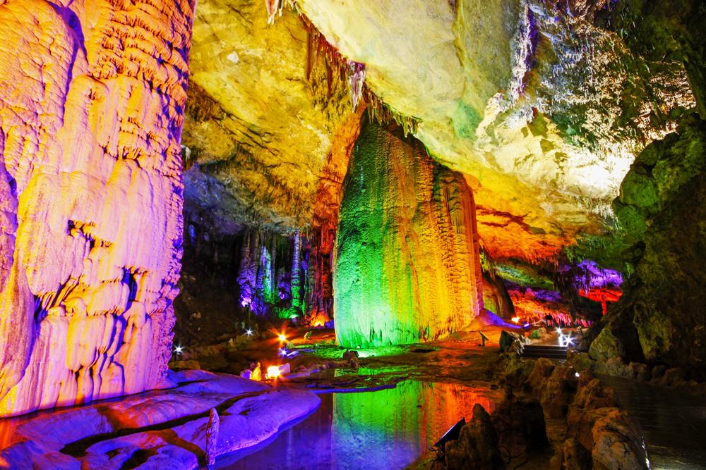 Экскурсия по самой большой в Азии пещере «Желтого Дракона, Banita tour, Asia, China, Yellow dragon cave