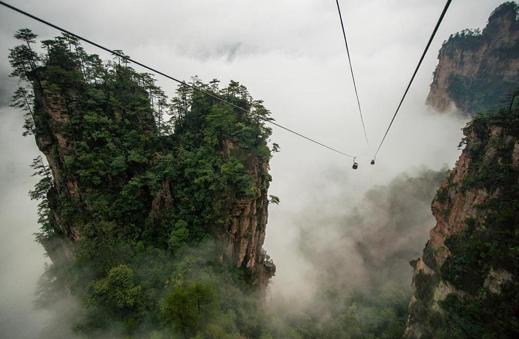 The otherworldly cliffs of China's Zhangjiajie National Forest. China, Avatar mountains, Banita Tour